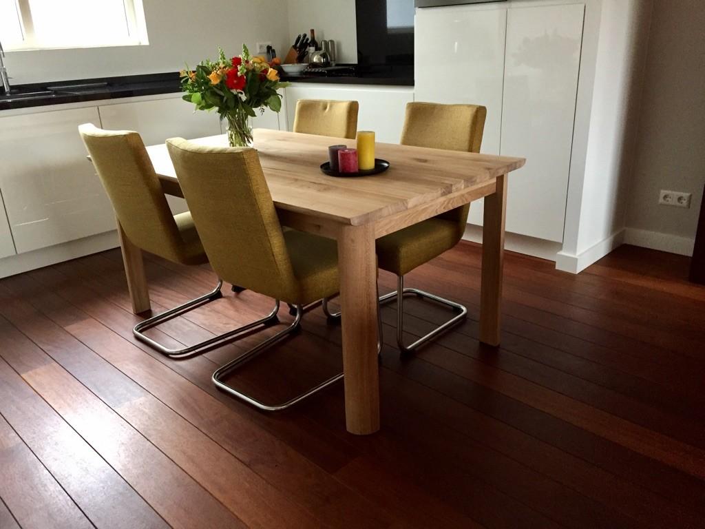 Recensie uitschuifeettafel en stoelen