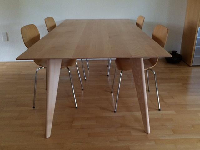 Tafel beuken modern