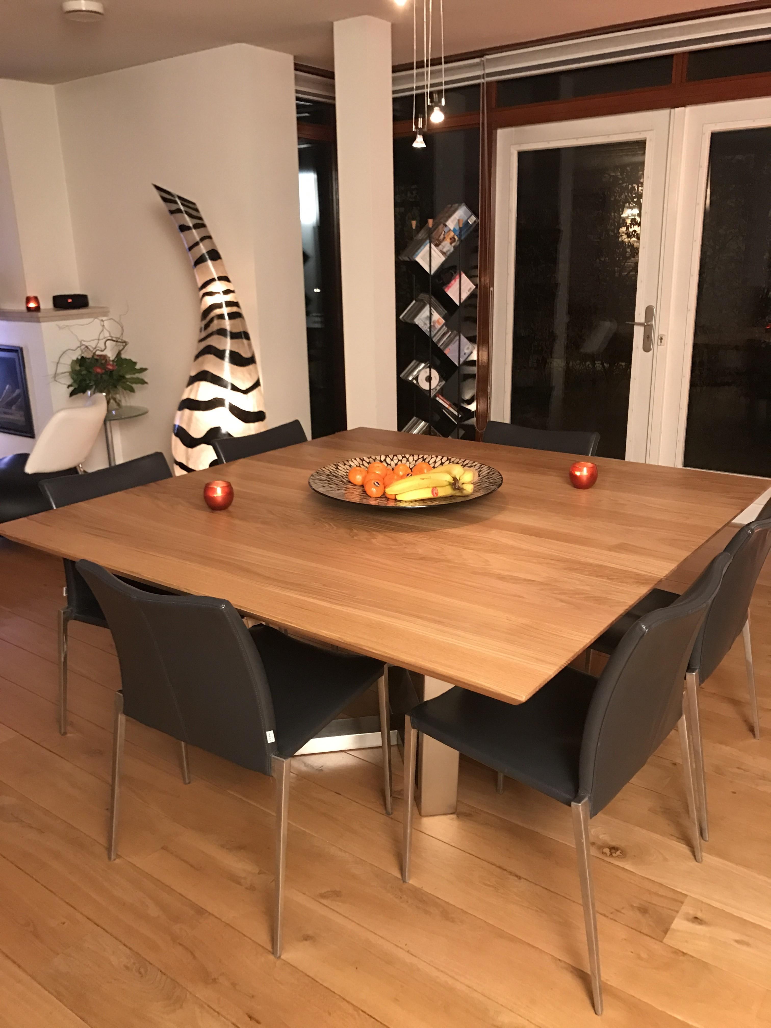 Vierkante eettafel Assen
