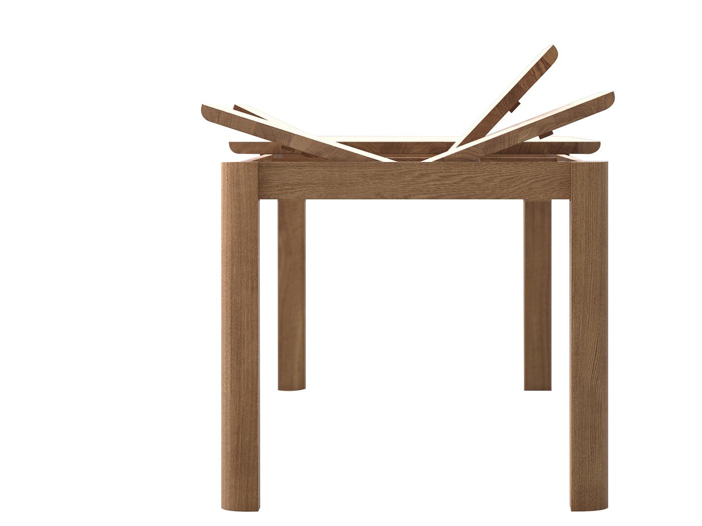 Vierkante Uitschuif Eettafel.Bonn Uitschuifbare Eettafel