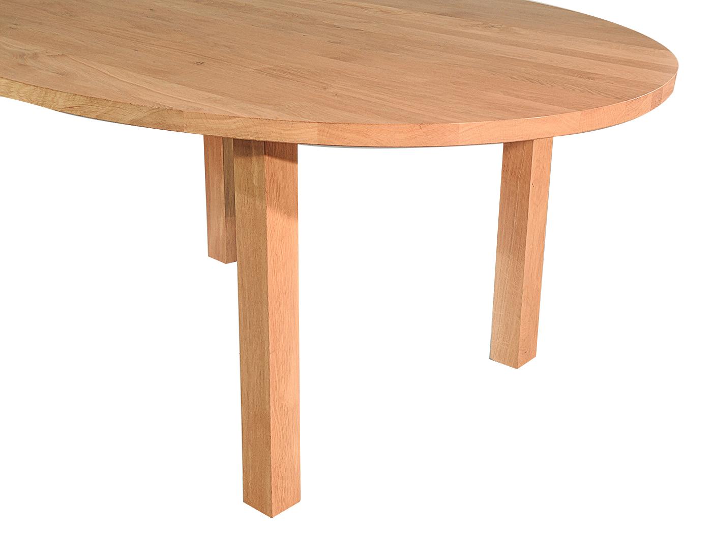 Caen - Ovale eettafel van eiken hout