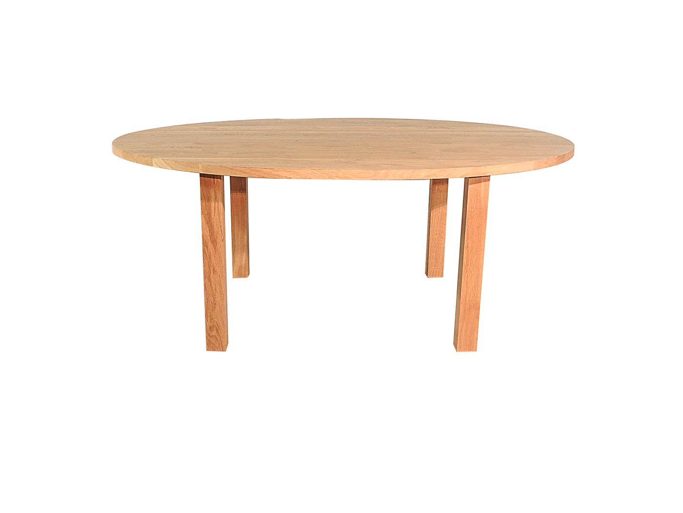 Caen - Ovale eiken tafel