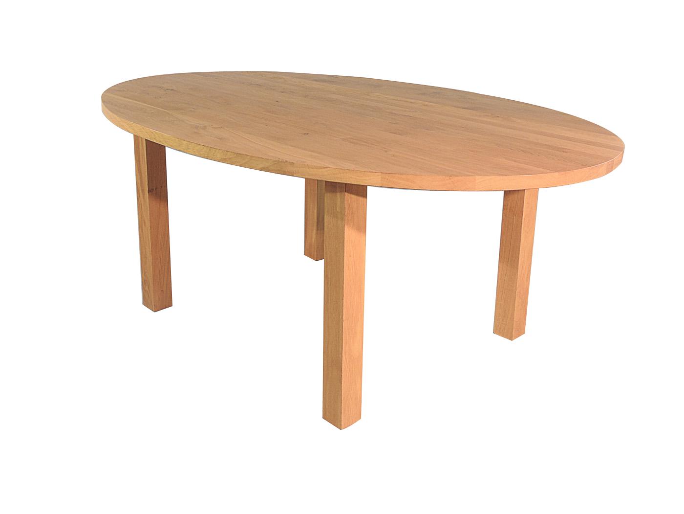 Caen ovale houten eettafel