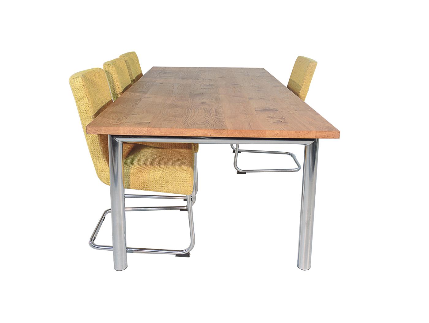Rvs Onderstel Tafel : Cesena eiken tafel met rvs onderstel