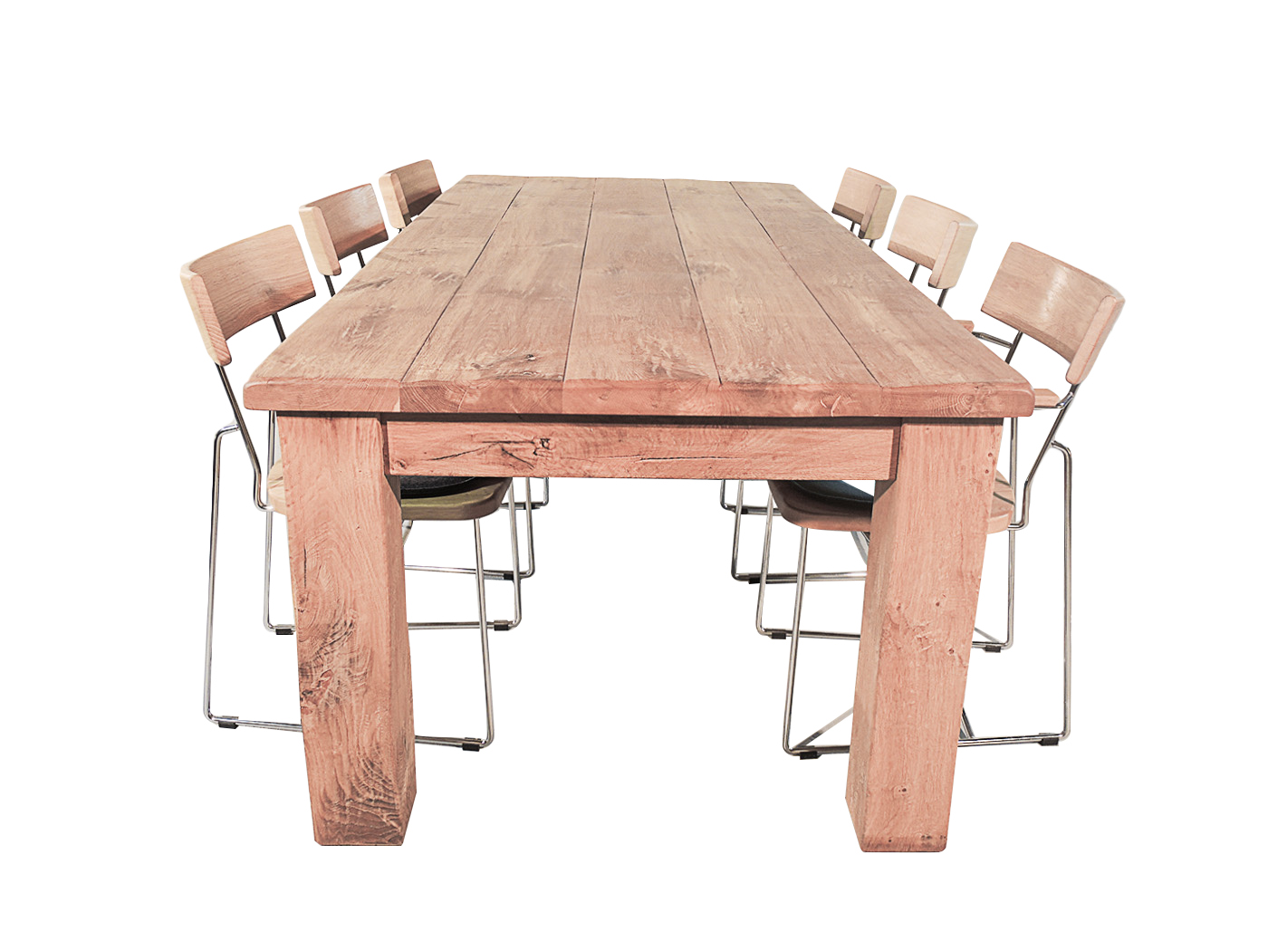 Robuuste Eiken Tafel : Robuuste stoere tafels mokana meubelen
