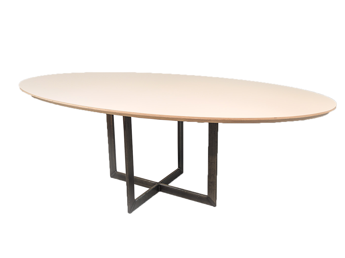 Eettafel Modern Wit.Palermo Witte Ovale Eettafel