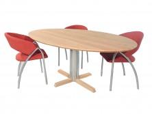 Rimini – Ovale design eettafel