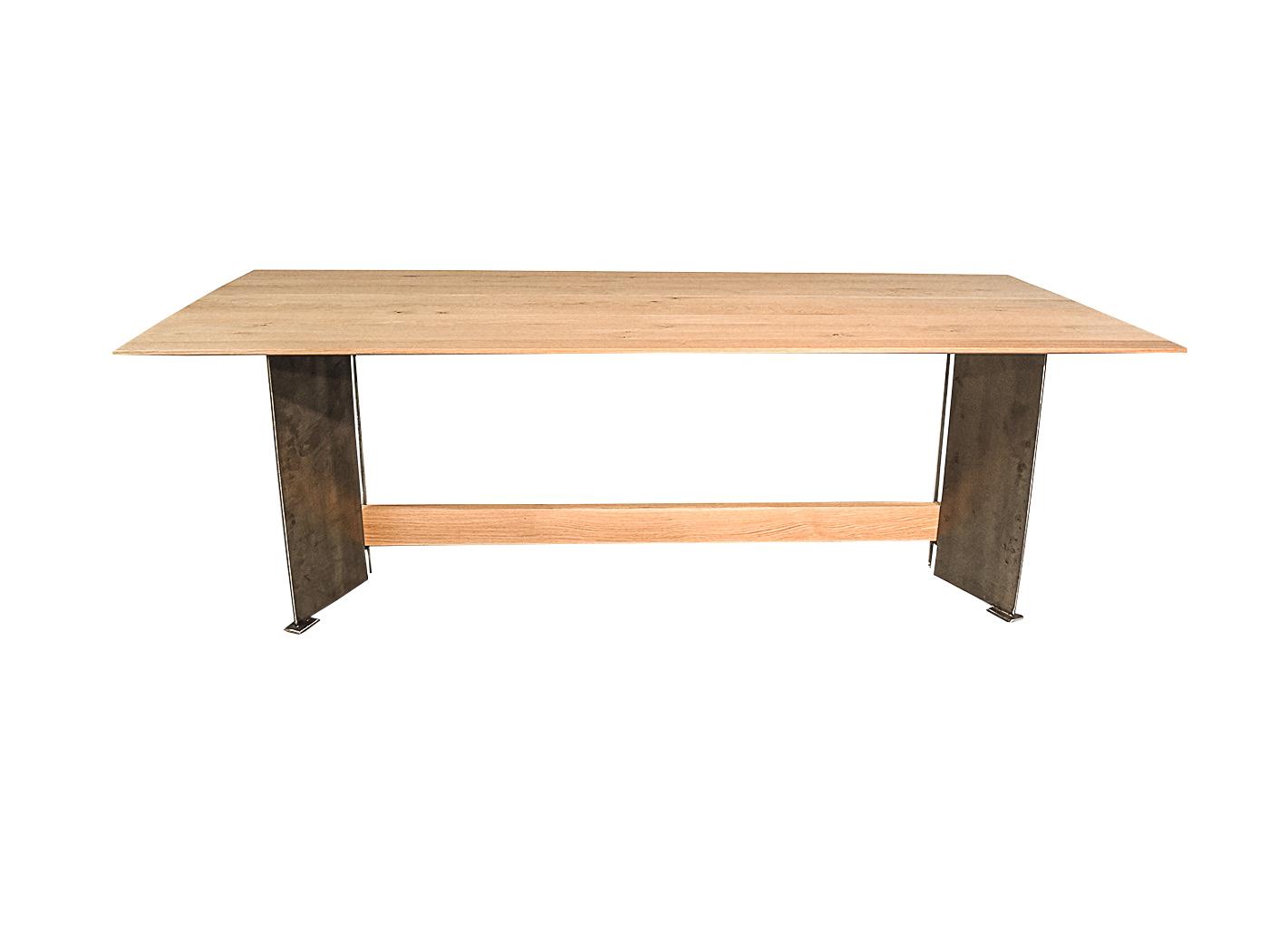 Tafel Stalen Frame : Verona moderne eettafel met metalen onderstel
