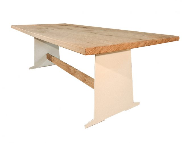 Como - Eettafel modern wit onderstel