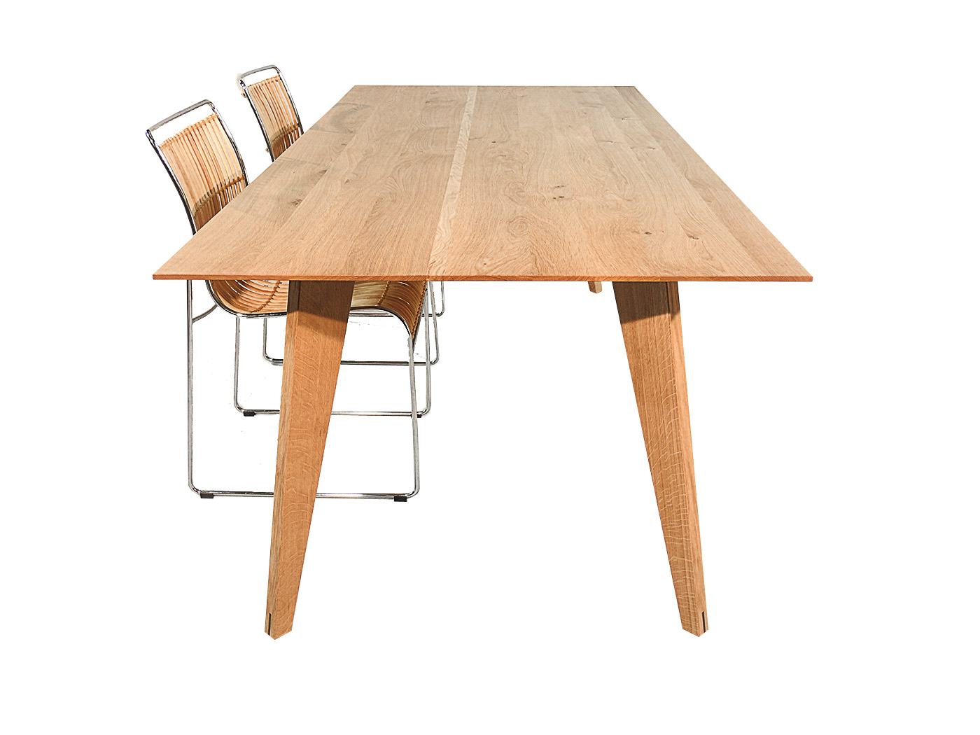 Notenhouten Uitschuifbare Eettafel.Modena Design Eiken Eettafel