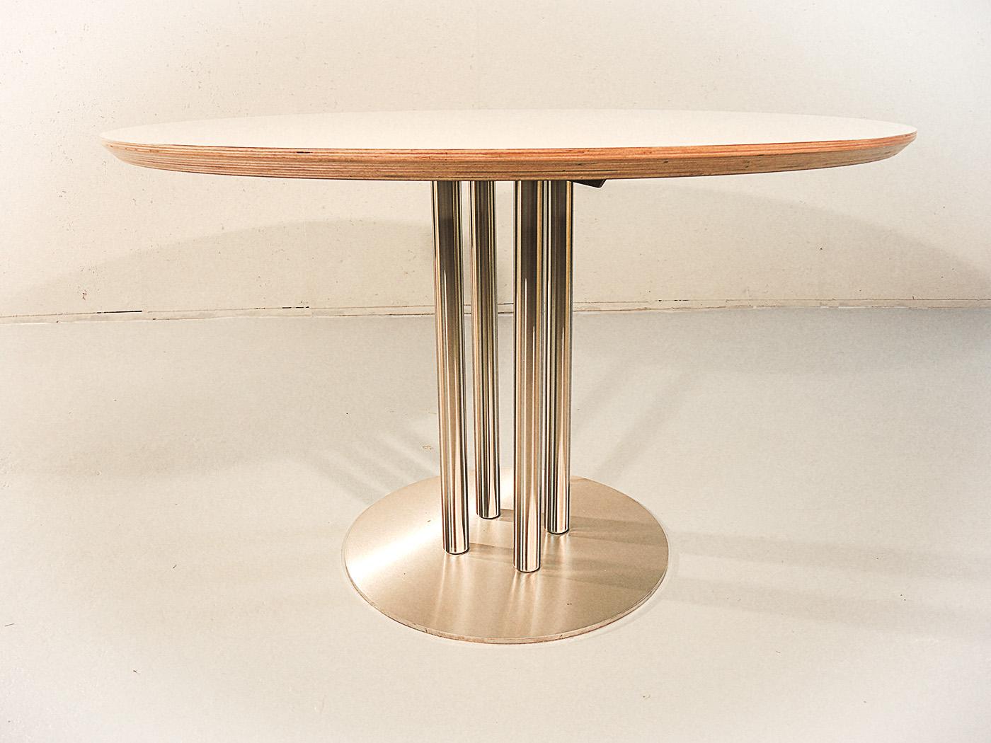 Arrezo - Ronde tafel met wit blad