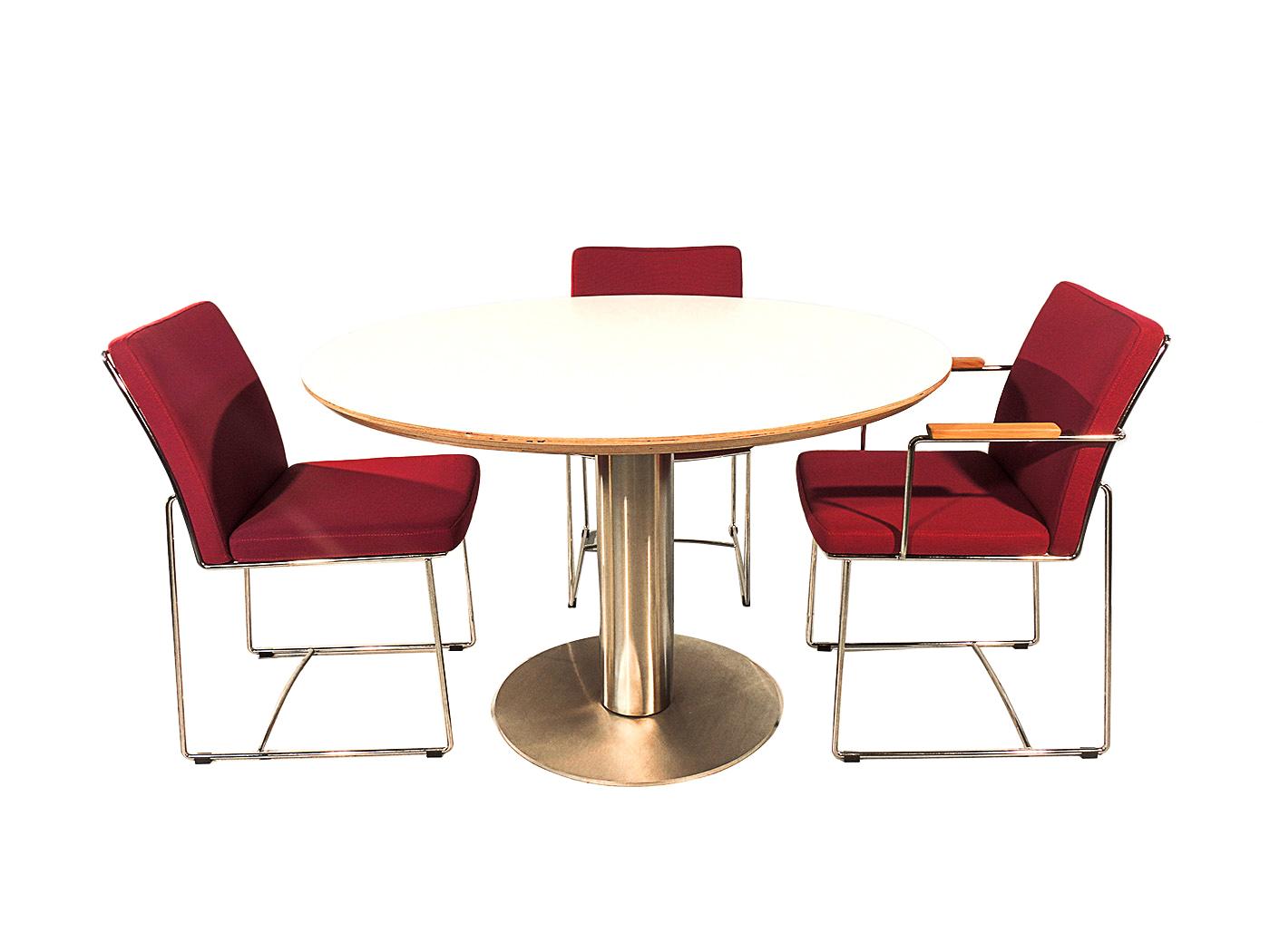 Orvieto - Ronde tafel met wit blad