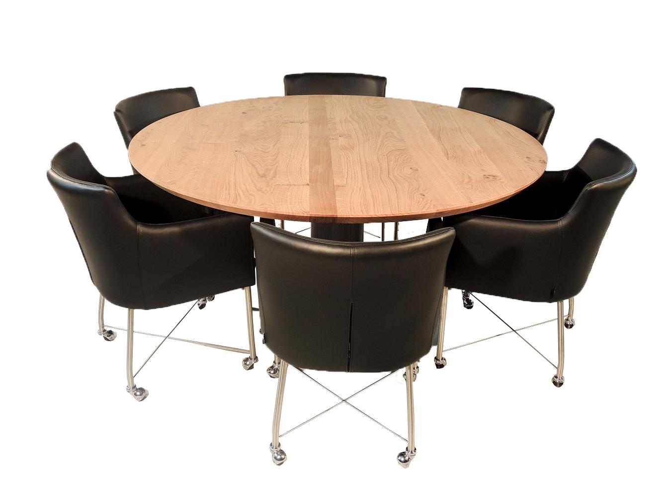 Eet Tafel Met 8 Stoelen.Madison Ronde Eettafel Voor 6 Personen