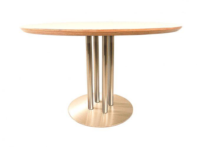 Arrezo – Ronde tafel met wit blad