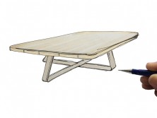 Schets – Vierkante salontafel