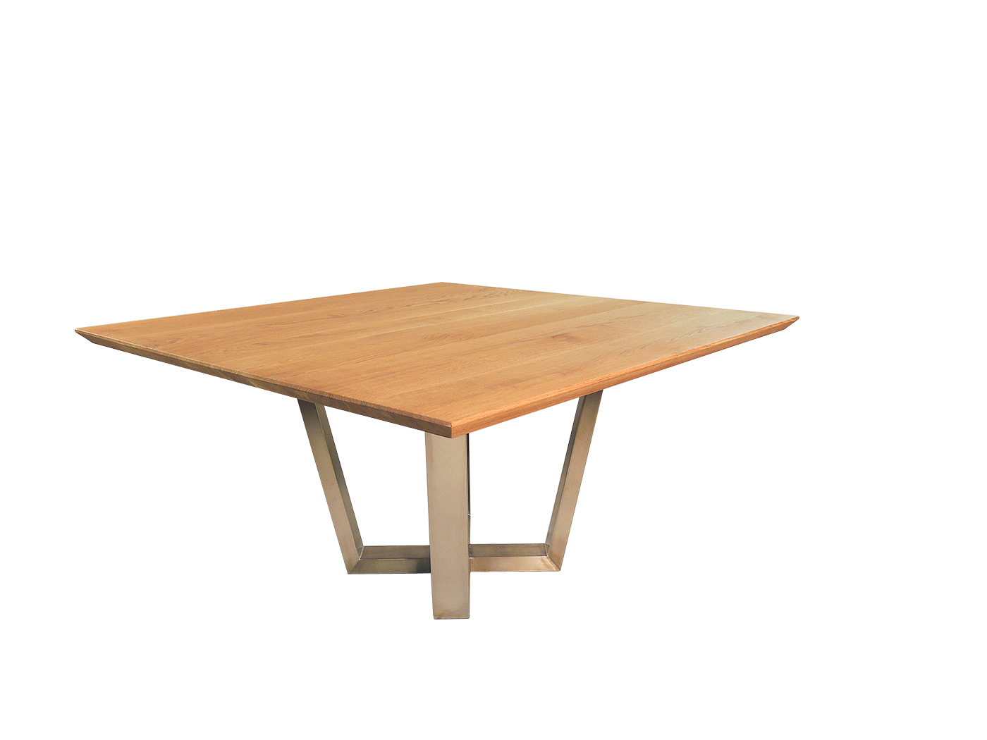 Grijze Vierkante Eettafel.Hampton Moderne Vierkante Tafel