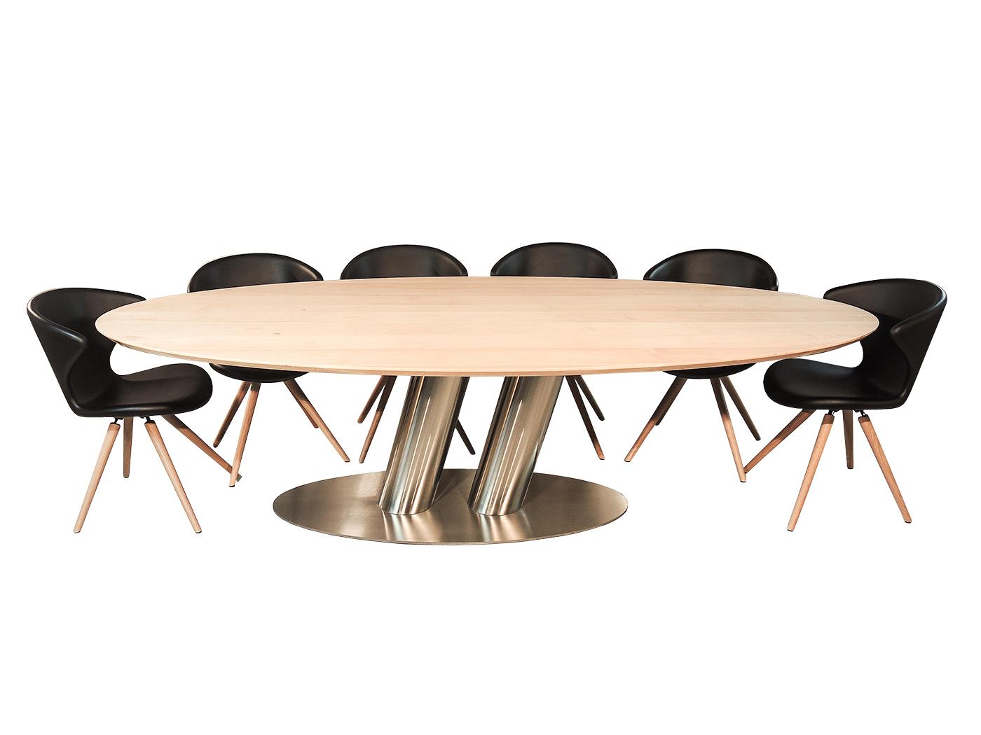 Grote Strakke Eettafel.Puglia Grote Ovale Design Tafel