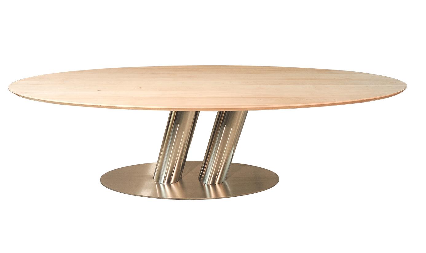 Puglia - Moderne ovale eettafel ahorn