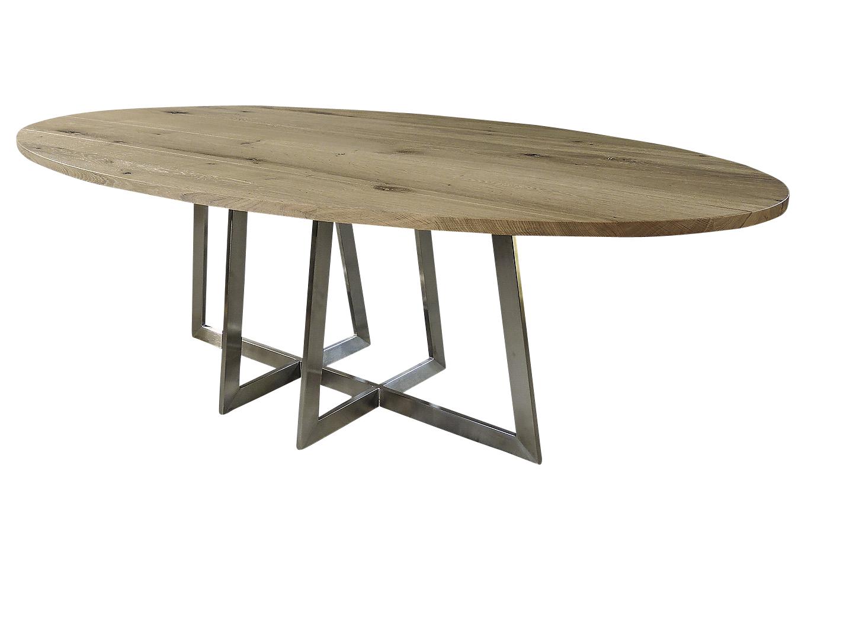 6 Persoons Tafel : Milano unieke ovale tafel