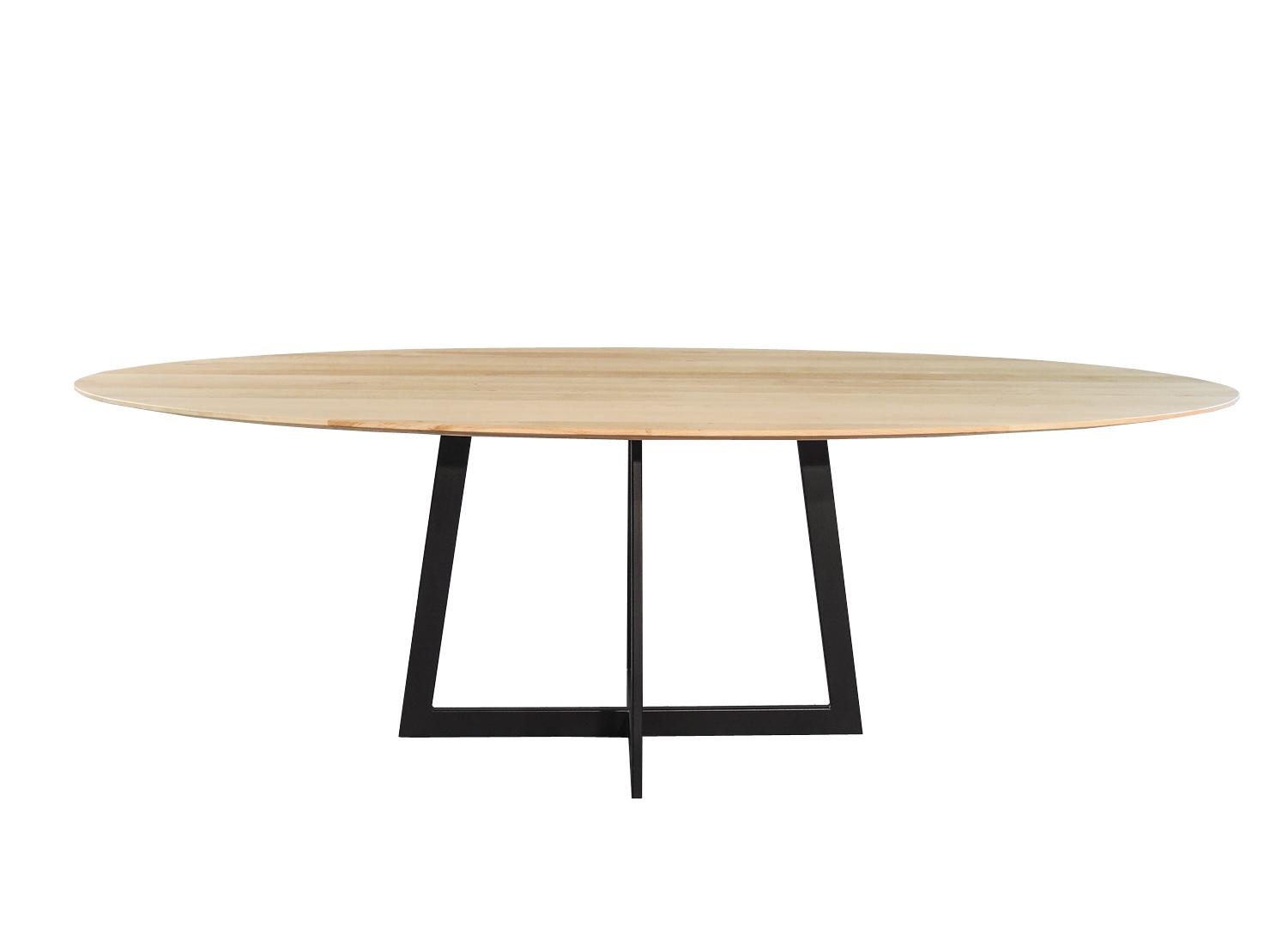 Glazen Eettafel 6 Personen.Varese Ovale Design Eettafel