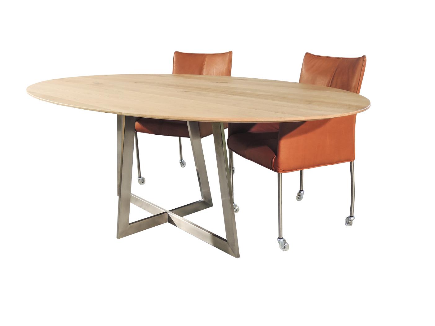 Varese - Ovale design tafel RVS