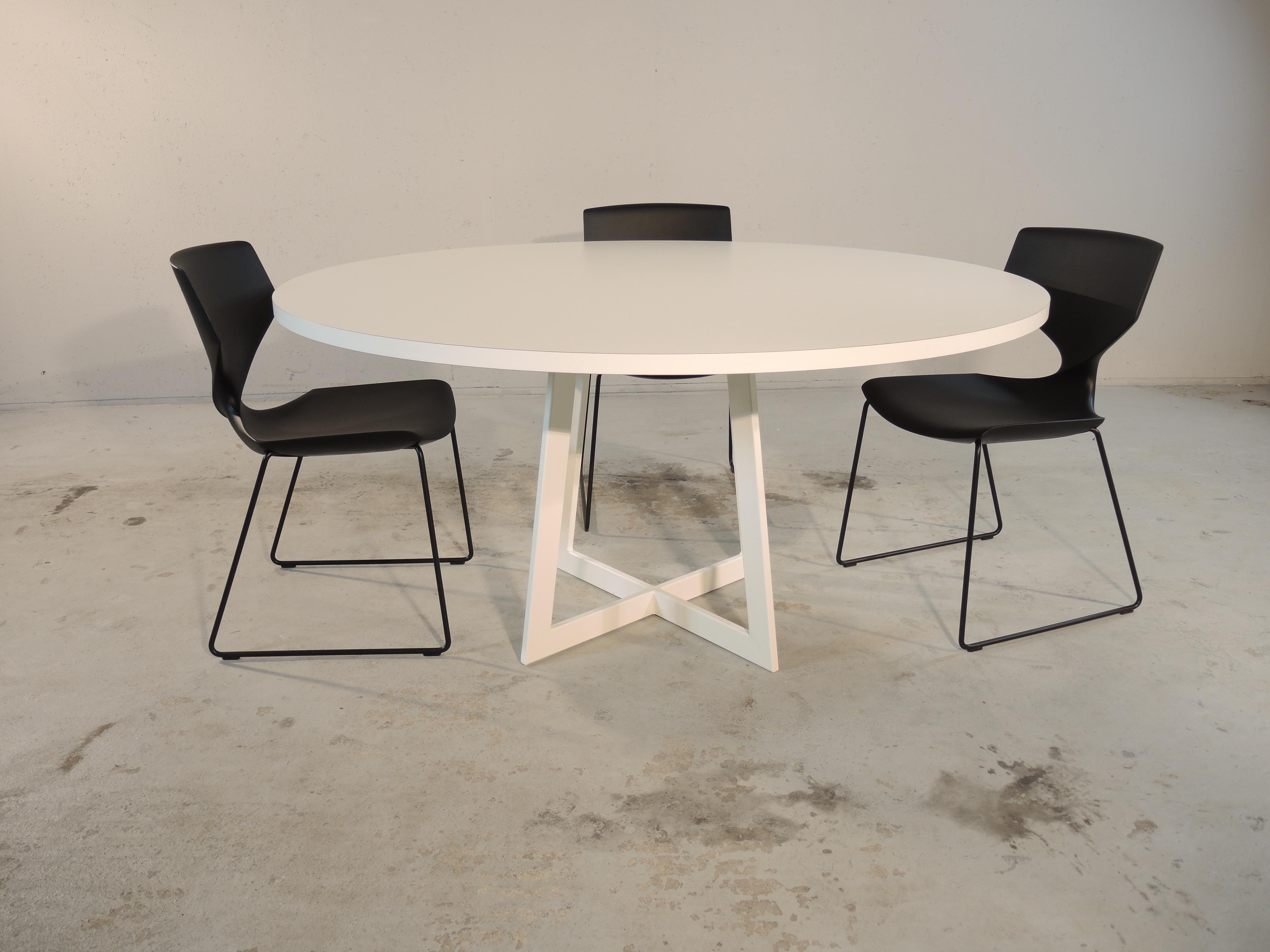 Ronde Witte Eettafel Design.Carzello Moderne Ronde Tafel