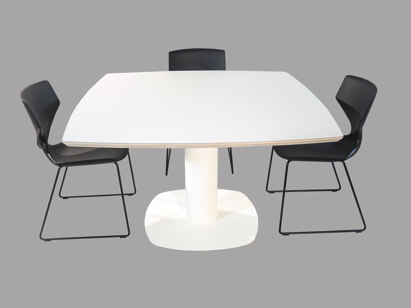 Witte Vierkante Eettafel.Empoli Design Fenix Witte Eettafel