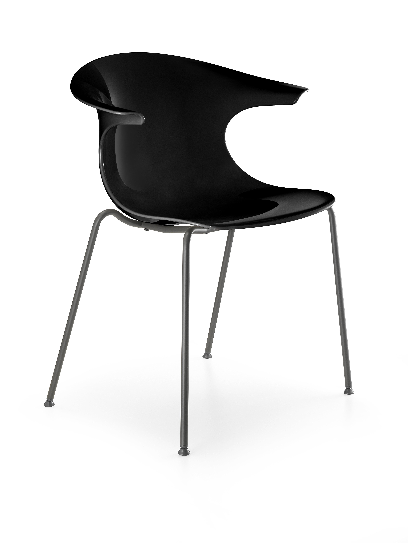 Loop - Zwarte kunststof stoel