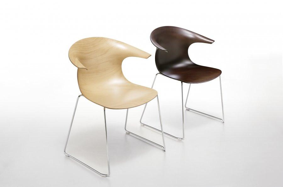 Loop houten design stoel